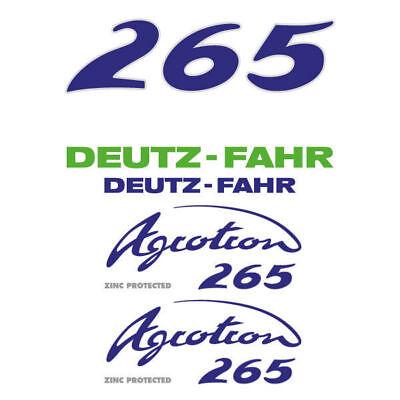 Deutz-fahr Agrotron 265 Tractor Decal Aufkleber Sticker Set