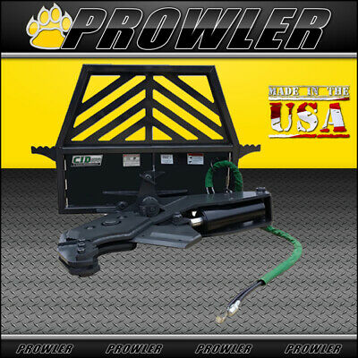 Prowler 90 Degree Manual Rotating Tree Shear Skid Steer Attachment 12 Inch Cut