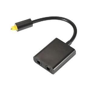 EMK 1x2 Toslink Optical Splitter - Black