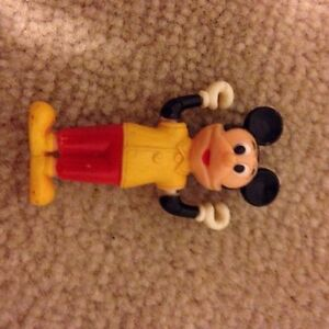 Antique Mickey Mouse plastic figure