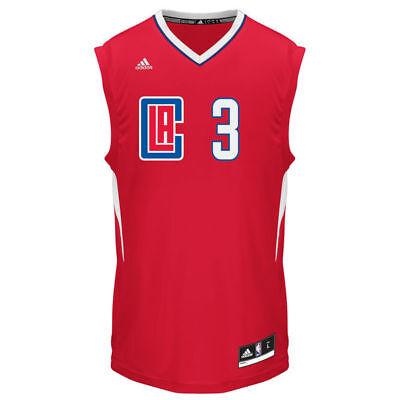 Men's LA Clippers Chris Paul adidas Red 2015 Replica Road Jersey-- 2XL ()
