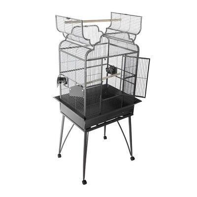 A&E Victorian Open Top Bird Cage Stand. Dark Green. Lightly Used A and E Cage