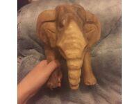 Fairtrade wooden elephant carving