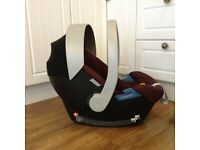 Burgundy Mamas & Papas Cybex Aton car seat fits many prams
