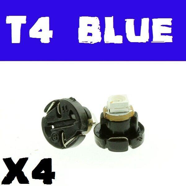 4 X Blue T4 Neo WedgeLED Twist Lock LCD Dash Cluster .,., VT VX VU VY VZ