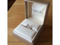 Diamond Engagement Ring White Gold size K