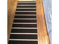 Black and white stripe rug