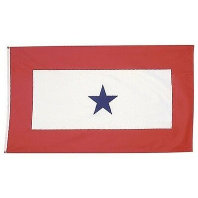 Mitchell Proffitt Blue Star Service Flag, 3'x5' Military Veteran Combat Flag NEW