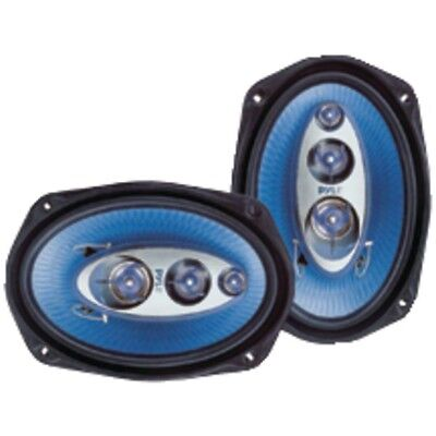 Pair New Pyle PL6984BL 6''x 9'' 400 Watt Four-Way Speakers Car