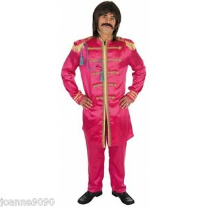NEW 60s 70s SGT SERGEANT PEPPER FANCY DRESS COSTUME SUIT HIPPIE BEATLES POP STAR