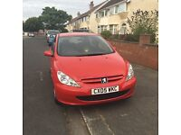Red Peugeot 307 REDUCED PRICE!!! Brand new touch screen radio cost over £200