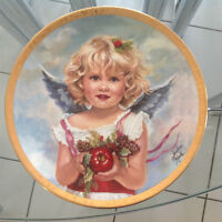 """""""Angel of Charity"""" Collector Plate By Sandra Kuck"""