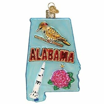 Old World Christmas 36272 Glass Blown State of Alabama Ornament