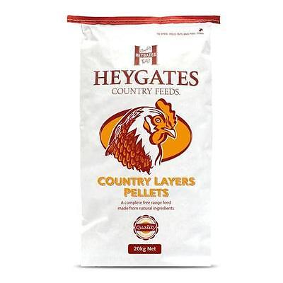 LAYERS PELLETS for Chickens / Poultry Heygates 20kg. Calcium (HEY014)