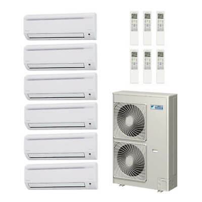 59,000 Btu 18.8 Seer Daikin 6-Zone Mini Split Heat Pump Syst