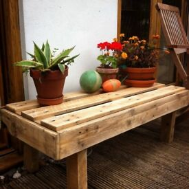 Rustic shabby benches pallet recycled
