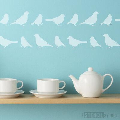 Tweet Border Bird Reusable Wall/Furniture Stencil Home Decor The Stencil Studio