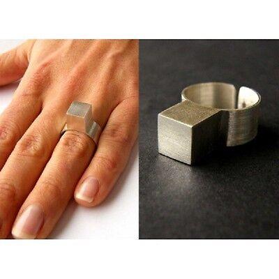 Wunderschöner Ring aus SILBERWÜRFEL, Silber 925, NEU - UNIKAT Handmade