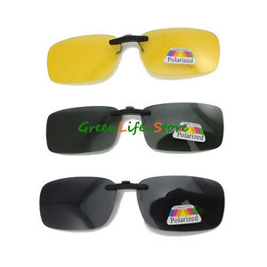 Clip-Polarized-on-wear-over-sunglass-glasses-eyeglass-spectacle-lens-anti-glare