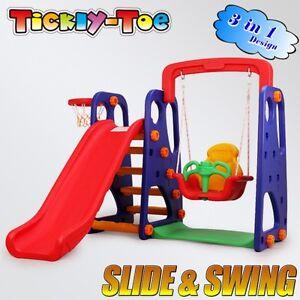 Slide & Swing Basketball Children Activity Center Indoor Outdoor Play Toys Set B