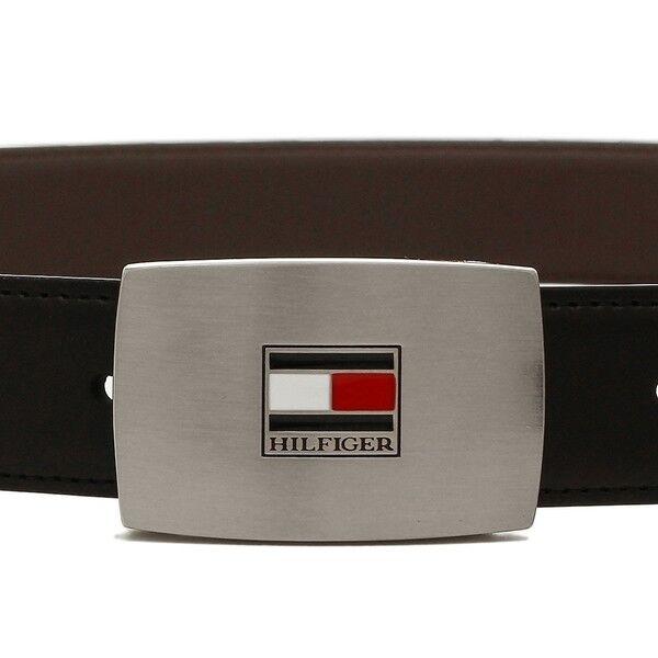 Tommy Hilfiger Men's Set Reversible Leather Belt Removable Buckle 11TL08X007