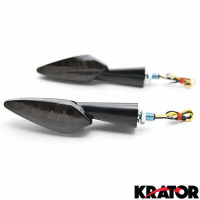 Motorcycle Custom Front/Rear Smoke Lens LED Turn Signal Indicator Light Blinker