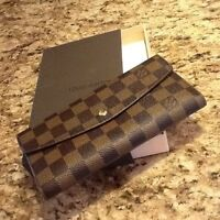 Louis Vuitton Damier Ebene Wallet - New in Box