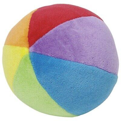 STOFFBALL mit Rassel Babyball aus Nickistoff Rasselball Baby spielen Stoff °NEU°