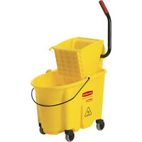 Brand New Rubbermaid 35 qt. Mop Bucket with Wringer + Free Mop