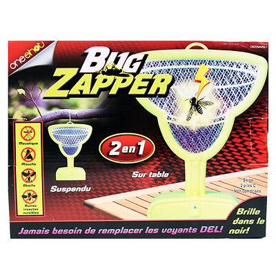 Bug Zapper 2-1 Hanging Table Glows The Dark Margarita Glass LED Ligh Neon Yellow (Led Margarita Glasses)