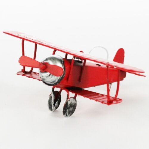 Retro Vintage Red Plane Airplane Aircraft Model Home