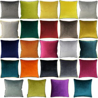 Paoletti Meridian Velvet Cushion Cover, 55 x 55 Cm