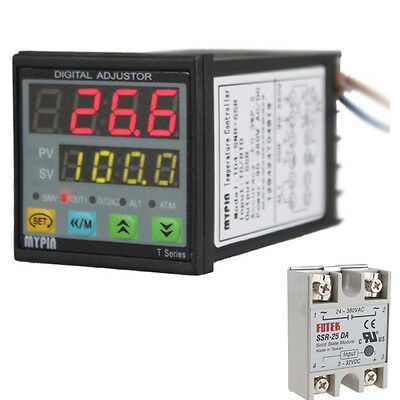 Digital Fc Pid 25a Ssr Thermostat Temperature Controller J S K E Thermocouple