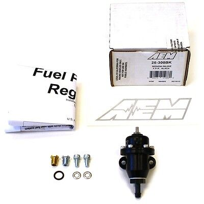 AEM BILLET FUEL PRESSURE REGULATOR FPR FOR 99-00 HONDA CIVIC SI 25-300BK