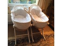 Two Moses baskets as priced ( will also sell individually)