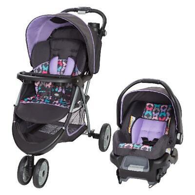 チャイルドシートとベビーカーのコンボセットベビー幼児キッド新生児トラベルシステムパープルニュー