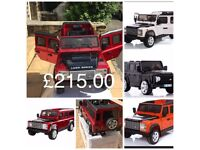 Landrover Defenders Available In Red, Silver, Orange, Black, Ride-On