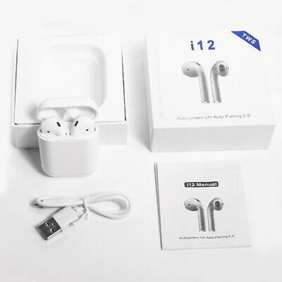 Wireless Bluetooth Headphones Earpods For Apple iPhone & Androids /Charger Case