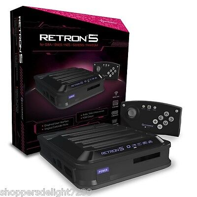 Hyperkin RetroN 5 Retro Video Gaming System Console - BLACK - Newest Edition!