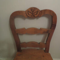 3 Large sturdy, solid wood chairs
