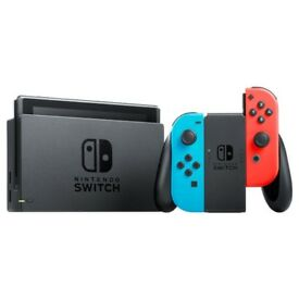 Nintendo Switch Console with Joy-Con, Neon Red/Blue