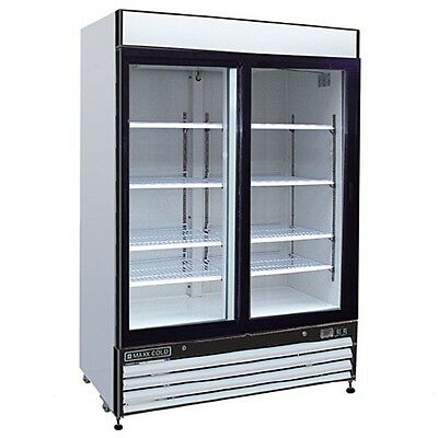 Maxximum Mxm2-48f 48cft 2 Section Glass Doors Freezer Merchandiser