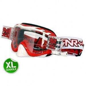 NEW RIP n ROLL HYBRID XL MX ENDURO QUAD GOGGLES RED