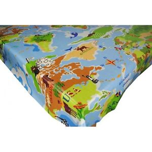 Childrens novelty pvc fabric wipe clean tablecloth for Novelty children s fabric