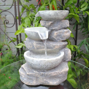 Feng Shui Indoor Multi Bowls Tabletop Water Fountain