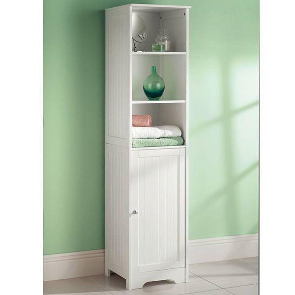 Like Newwhite Wooden Bathroom Cabinet Shelf Cupboard Bedroom Storage Unit Free Standing