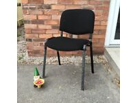 Stackable Meeting Chair In Black