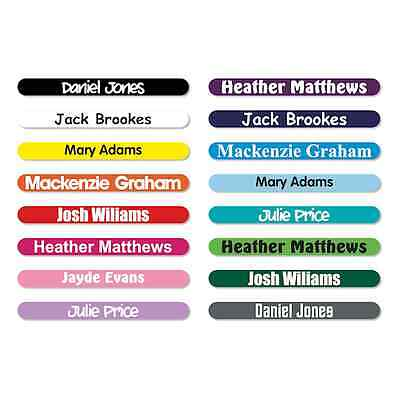 50 x PERSONALISED STICK ON PENCIL NAME LABELS TAGS WATERPROOF FOR SCHOOL / - Kids Name Labels