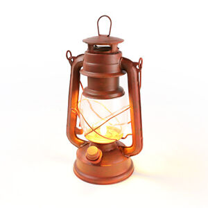 Nebo Old Red Lantern, LED with realistic flickering flame