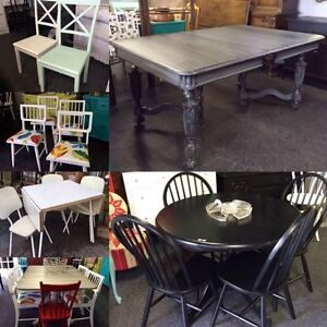 VARIETY Of dining TABLES & chairs all on sale this week!